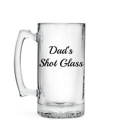 Dad's Shot Glass Beer Mug 26.5oz Beer Stein by VinylVineyardCT Gifts For Dad, Gifts For Women, Men Gifts, Glass Beer Mugs, Wine Glass, Silhouette Projects, Silhouette Cameo, Beer Quotes, Cricut Creations