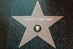DIY Hollywood Star - Use the website to create a star, then print at photo center!