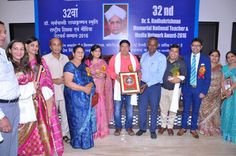 Noted educationist Dayanand Vats getting felicitated by MP Udit Raj at a prestgious awards event in the capital recently