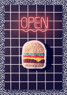 Embroidery burger