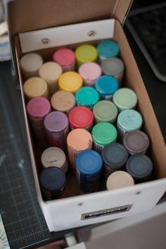 brilliant yet simple idea for acrylic paint storage!