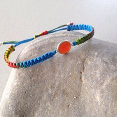 Items similar to Carnelian macrame bracelet, semiprecious faceted bezel on Etsy Macrame Bracelets, Carnelian, Trending Outfits, Unique Jewelry, Handmade Gifts, Vintage, Etsy, Kid Craft Gifts, Craft Gifts