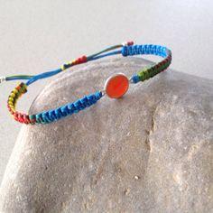 Carnelian  macrame bracelet semiprecious by keepcalmandbeadon, £12.00