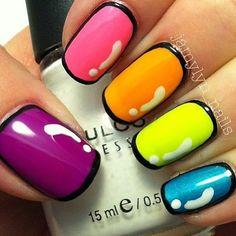 Nice rainbow comic nails