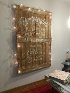 Welcome board  (designed by Mura Sari)
