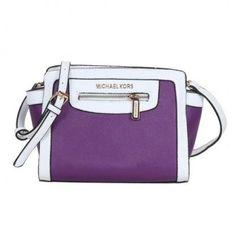 Michael Kors Selma Top-Zip Medium Purple Crossbody Bags