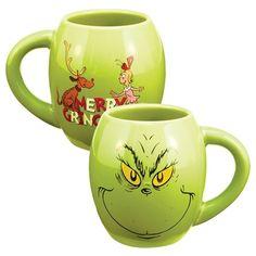 """VANDOR Dr. Seuss™ """"The Grinch"""" 18 oz. Ceramic Oval Mug Cup 52878 #Vandor"""