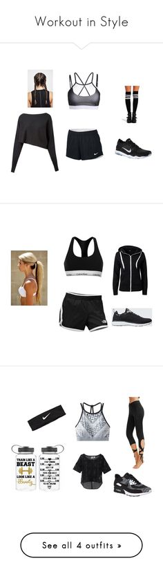 """Workout in Style"" by mlecours on Polyvore featuring Crea Concept, NIKE, Boohoo, Calvin Klein, The North Face, Sisters Point, Athletic Propulsion Labs, Puma, prAna and Vans"