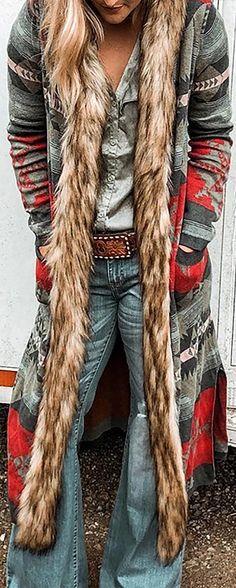 Hot Sale! Long Sleeve Vintage plus size Outerwear Boho Fashion Winter, Look Fashion, Fashion Outfits, Womens Fashion, Vogue Fashion, Fashion Shoes, Botas Boho, Mode Country, Moda Hippie