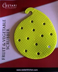 Vegetable Scrubber Brush : Double Sided Silicone Fruit an...
