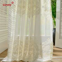 White Sheer Curtains For Bedroom Tulle Window Door Vorhang Embroidered Damask Drapes Voile European Cortinas For Living Room