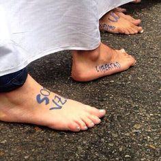 Así marchas los #PiesDescalzos hoy en #ccs pic.twitter.com/k4XLLgsTmn