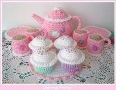 Crocheted Tea Cup - AllFreeCrochet.com - Free Crochet