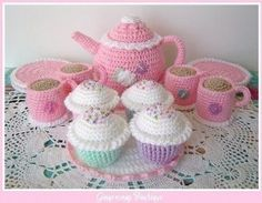 Crocheted Tea Cup - AllFreeCrochet.com - Free Crochet
