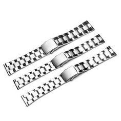 New 20mm 22mm 26mm Silver Stainless Steel Mesh Watch Strap Bracelets Strap Deployment Clasp Curved Ends Watchbands Accessories