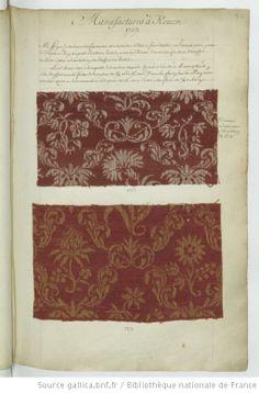 * Manufactures à Rouen // 1737 - Echantillons d'étoffes et de rubans recueillis par le Maréchal de Richelieu
