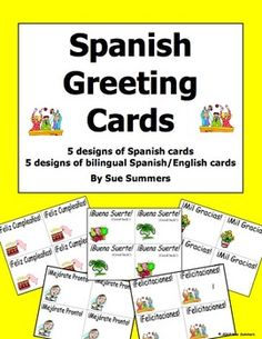 Spanish Greetings Word Search Puzzle, Vocabulary, Cards, and Image ...