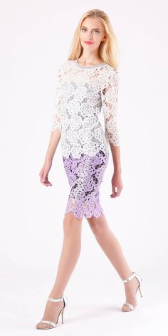 Ready for spring. 2017 Fall Fashion Trends, Autumn Fashion, Romantic Lace, Lace Knitting, Embroidered Lace, Floral Lace, Lace Dress, Sweaters For Women, Sequins