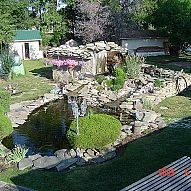 Hometalk :: My husband and I built this pond from below ground up! It took us thre…