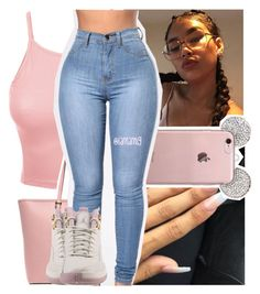 """""""b*tches, want beef. now that's the sh*t that i eat"""" by lamamig ❤ liked on Polyvore featuring LE3NO, MICHAEL Michael Kors and NIKE"""