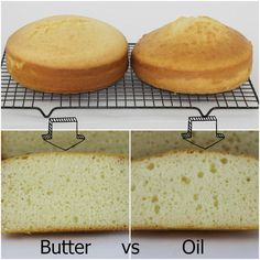 Bubble and Sweet: Butter versus Oil a comparison using Betty Crocker Vanilla cake mix