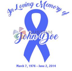 In Memory Of Ribbon Memorial Decal for Car by KustomVinylKutz16