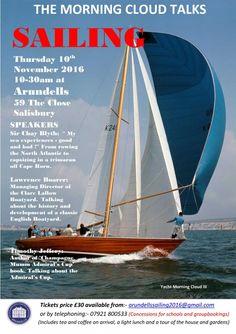 Admiral Yacht Insurance Sponsor Morning Cloud Sailing Talk Event - http://www.admiralyacht.com/admiral-news/admiral-yacht-insurance-sponsor-morning-cloud-sailing-talk-event/ - 10th November 2016 #SailingEvent #MorningCloud
