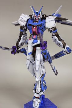 MG 1/100 MBF-P02Kai Gundam Astray Red Frame Kai - Painted Build Modeled by blackheart