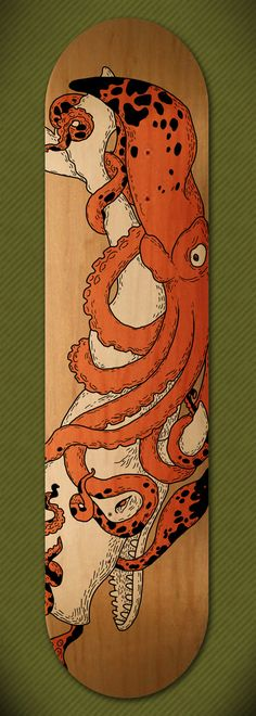 Skateboard designs by Vaclav Bicha, via Behance