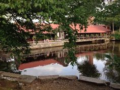 The 1761 Old Mill Restaurant is situated on a mill dam that provides one of the most enchanting dining settings around.