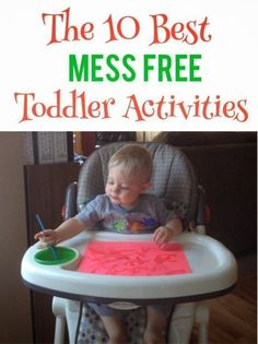 My one-year-old Cooper is a busy body and I am constantly looking for new activities that will hold his attention for longer than a few seconds so I can actually get a few things done. Here are some of my favorite mess free ones! Water Painting: Have y Activities For 1 Year Olds, Toddler Learning Activities, Games For Toddlers, Infant Activities, Educational Activities, Family Activities, Learning Games, 1year Old Activities, Kids Learning