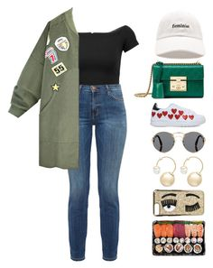 """5.690"" by katrinattack ❤ liked on Polyvore featuring Prada, Alice + Olivia, Current/Elliott, Forever 21, Gucci, Chiara Ferragni, Witchery, runningerrands and polyvorefashion"