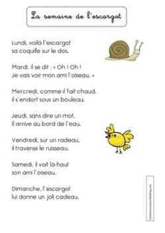 La semaine de l'escargot French Songs, Baby Education, Second Language, Teaching French, Teaching Resources, Preschool, Activities, Learning, Fun