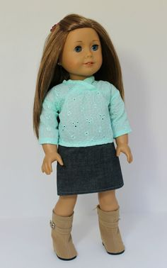 Mint Green Spring 3 Piece Outfit American Girl by SodaPopStreet, $16.99