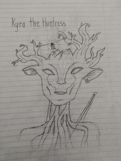 Original character based off some Skyrim concept art I saw: Kyra the Huntress. A wood... Nymph? Spriggan? Elf? Anyway: here she is.