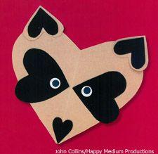 Create a raccoon valentine