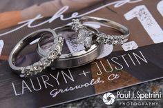 A look at Justin and Lauryn's wedding rings from their July 2016 wedding reception at the Overlook at Geer Tree Farm in Griswold, Connecticut.To see more photos from Justin and Lauryn's wedding, please visit http:// www.tinyurl.com/JustinAndLauryn (Copyright 2016: Paul J. Spetrini Photography)