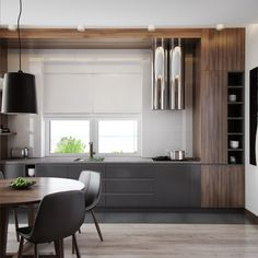 6 Modern Kitchen Design With A Minimalist Cabinet Home Decorating Modern kitchen design with a minimalist cabinet is very popular these days. It is most popular because of the important role it plays in creating a pl. Modern Kitchen Interiors, Modern Kitchen Design, Diy Kitchen Flooring, Kitchen Decor, Brown Kitchens, Cool Kitchens, Kitchen And Kitchenette, Painting Kitchen Cabinets White, Kitchen Layouts With Island