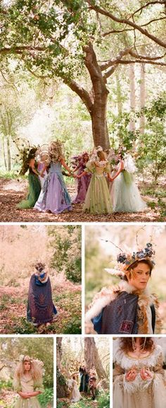 A Midsummer Night's Dream fairy costumes. How lovely!!! Also, this links to a beautiful fairy wedding.