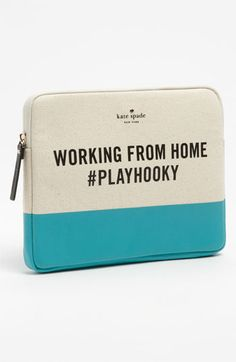 'working from home' iPad sleeve