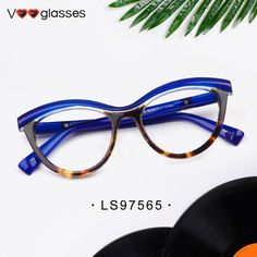 5a23537fea96 🦄Blue Tortoise Color Eyeglasses 💗Made with excellent acetate  💃Fashionable and attracting