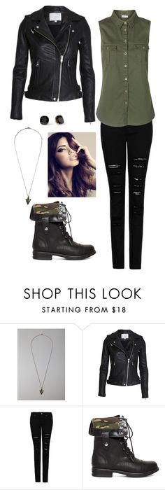 """""""Edgy fall look with army green tunic and distressed black skinny jeans"""" by tiffany-pal ❤ liked on Polyvore featuring Urban Outfitters, MANGO, 2b bebe, Vero Moda and Kate Spade"""