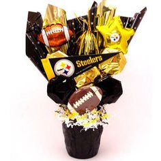 Custom Steelers Fan Gift Basket w/Chips, Popcorn, Nuts, Snacks ...