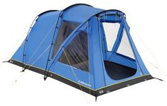 A simply pitched tunnel tent with standing room, that's ideal for small families.