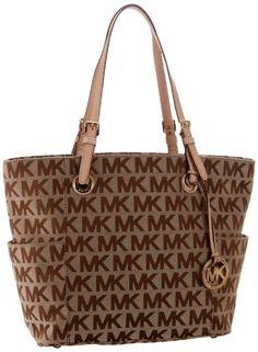 MICHAEL Michael Kors E/W Signature Tote Bag  http://stylexotic.com/michael-michael-kors-ew-signature-tote-bag/