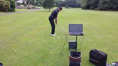 Working with Trackman to further analyies where the club face is pointing at impact and the swing path of the club though the swing. Club Face, Cork Ireland, Golf Lessons