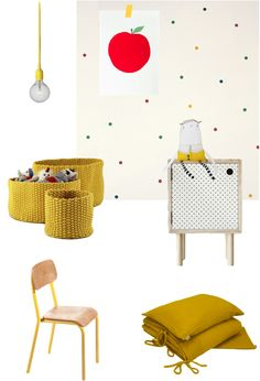 ebabee likes : big style for little people:Yellow baby room decor ideas Boy And Girl Shared Bedroom, Baby Boy Rooms, Kids Bedroom, Kids Rooms, My Room, Girl Room, Baby Room Decor, Bedroom Decor, Colorful Playroom