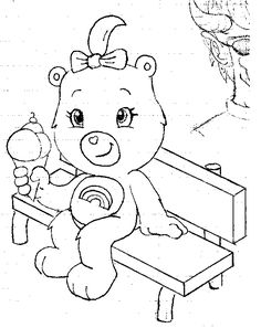christmas care bear coloring pages - pin by care bears world on care bear christmas wishes