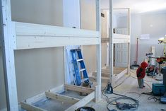 step by step on building the bunk beds