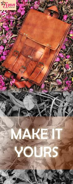 Handcrafted leather backpack !!